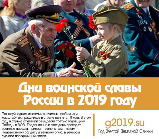 Days of military glory of Russia in 2019