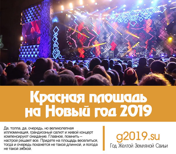 Red Square for the New Year 2019