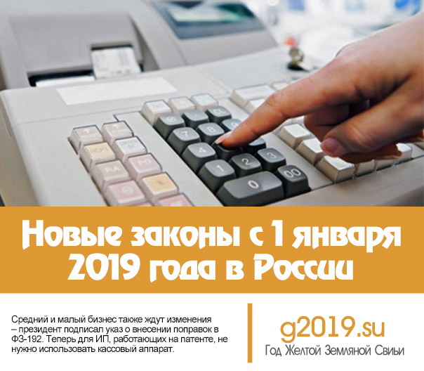 New laws from January 1, 2019 in Russia