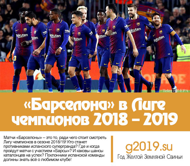 Barcelona in the Champions League 2018 - 2019